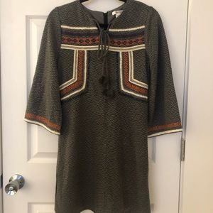Sweater dress with bell sleeves